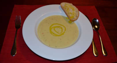 Leek Soup with Olive Oil