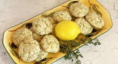 Lemon Thyme Olive Oil Cookies